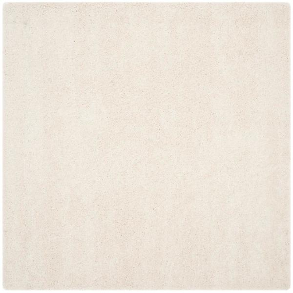 Milan Shag Ivory 5 ft. x 5 ft. Square Area Rug