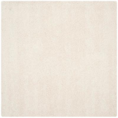 Milan Shag Ivory 7 ft. x 7 ft. Square Area Rug