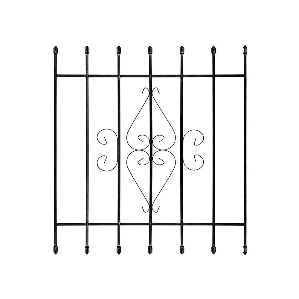 Unique Home Designs 36 in. x 42 in. Su Casa Black 7-Bar Window Guard
