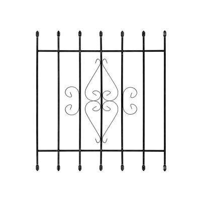 36 in. x 42 in. Su Casa Black 7-Bar Window Guard