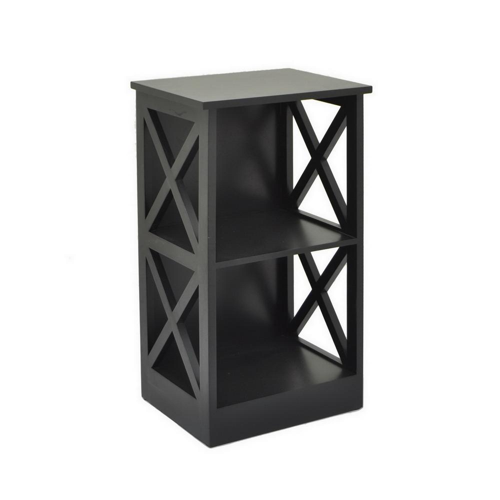 15.75 in. x 11.75 in. Storage Rack-Black in Black