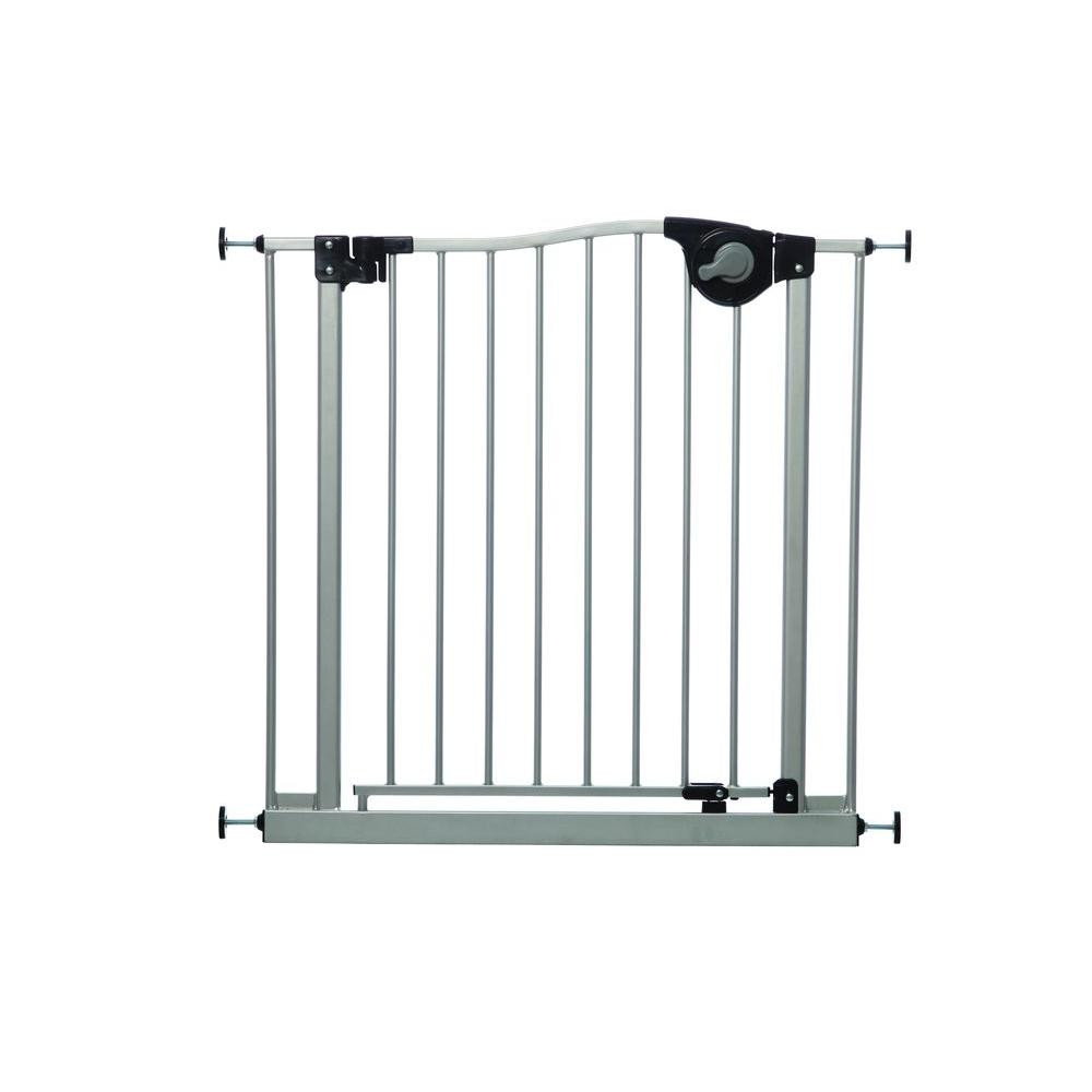 Empire Silver 29.5 in. H. Magnetic Auto-Close Smart Stay-Open Security Gate