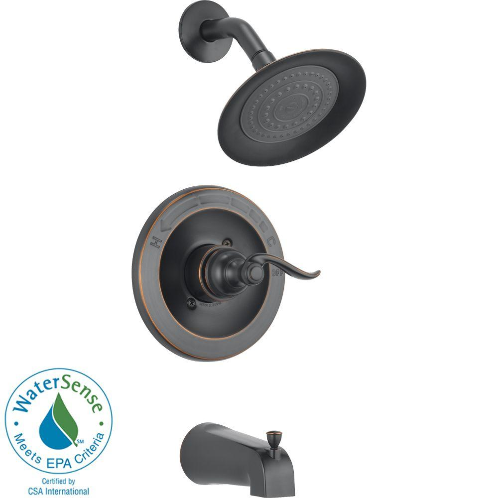 Delta Traditional Single-Handle Tub and Shower in Oil Rubbed Bronze (Valve Included)