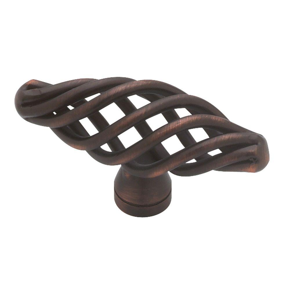 Liberty Forged Iron 2 in. Venetian Bronze Small Birdcage Oval Cabinet Knob