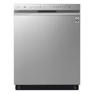 Front Control Tall Tub Smart Dishwasher with QuadWash, 3rd Rack and Wi-Fi Enabled in Stainless Steel, 46 dBA