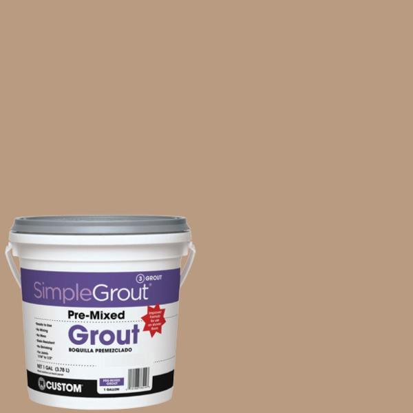 Custom Building Products Simplegrout 180 Sandstone 1 Gal Pre Mixed Grout Pmg1801 The Home Depot