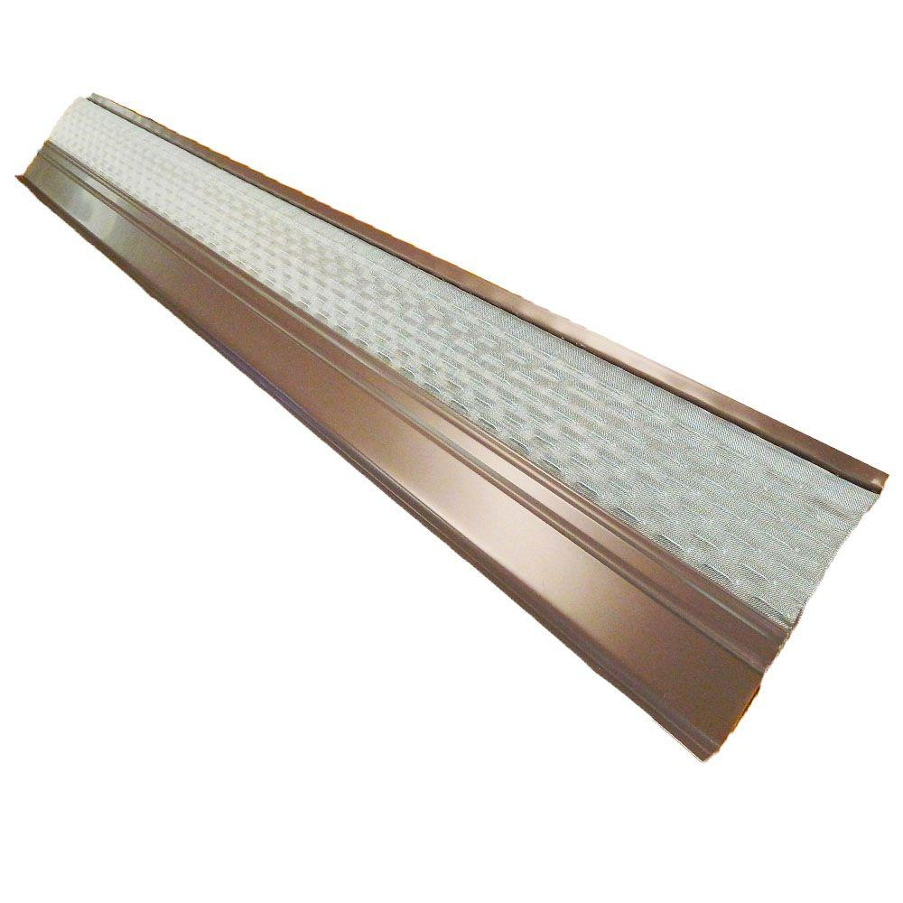 Gibraltar Building Products 4 ft. x 6 in. Clean Mesh Brown Aluminum Gutter Guard (25-per Carton)