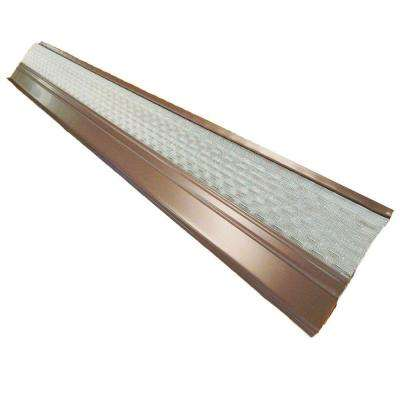 4 ft. x 6 in. Clean Mesh Brown Aluminum Gutter Guard (25-per Carton)