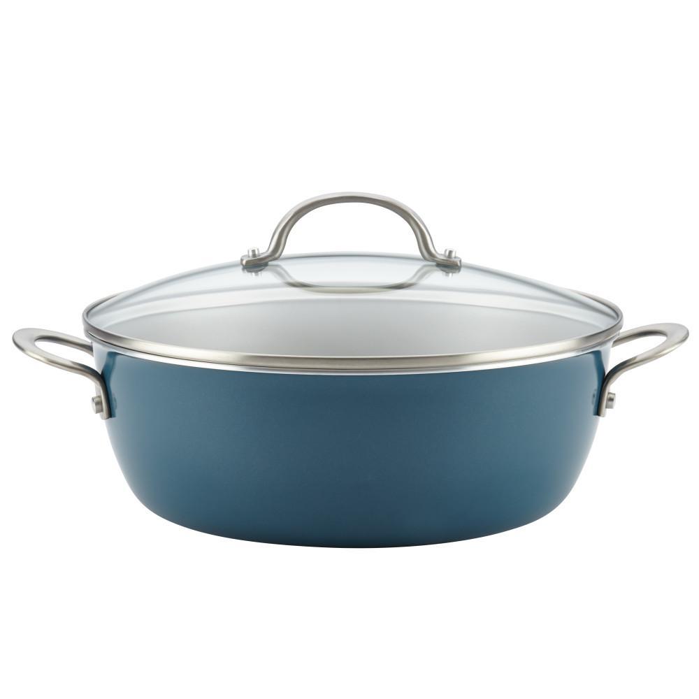 Home Collection 7.5 Qt. Porcelain Enamel Nonstick One Pot Meal Stockpot