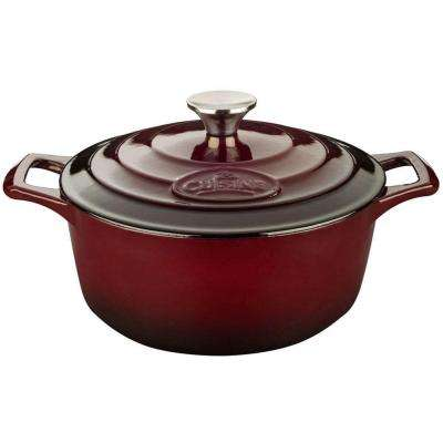 2.2 Qt. Cast Iron Round Casserole with Ruby Enamel