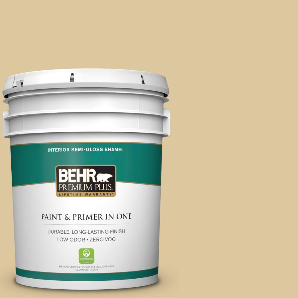 5-gal. #360E-3 Winter Garden Zero VOC Semi-Gloss Enamel Interior Paint