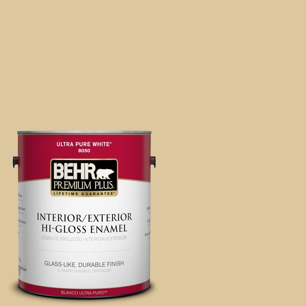 BEHR Premium Plus 1-gal. #360E-3 Winter Garden Hi-Gloss Enamel Interior/Exterior Paint