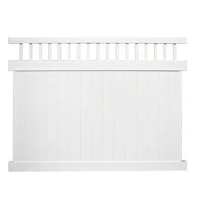 Mason 6 ft. H x 8 ft. W White Vinyl Privacy Fence Panel Kit