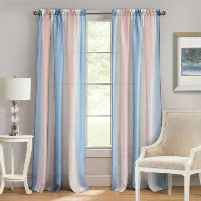 Spectrum Rose/Serenity Rod Pocket Curtain - 50 in. W x 63 in. L