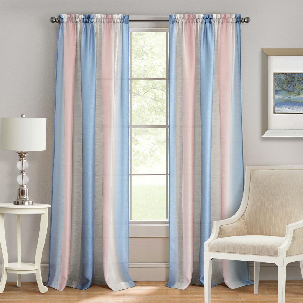 Spectrum Rose/Serenity Rod Pocket Curtain - 50 in. W x 63 in. L