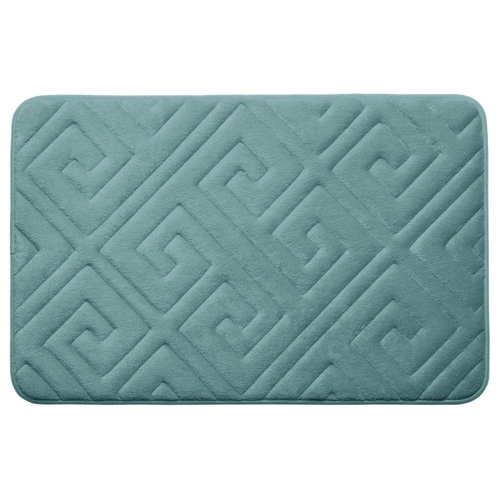 Caicos Marine Blue 20 in. x 32 in. Memory Foam Bath