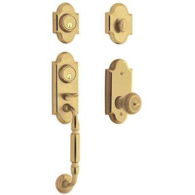 Ashton  Single Cylinder Lifetime Polished Brass Handleset