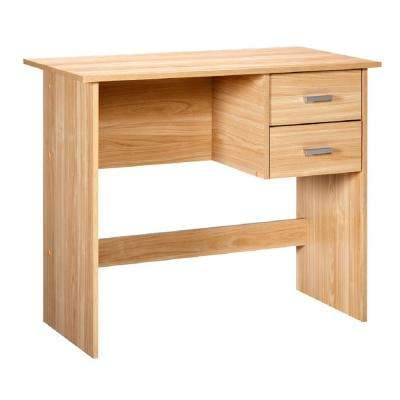 Adina Oak Writing Desk with Two Drawers