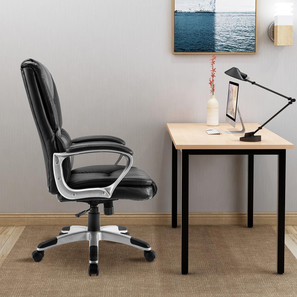 Astounding Merax Black High Back Leather Executive Swivel Office Theyellowbook Wood Chair Design Ideas Theyellowbookinfo