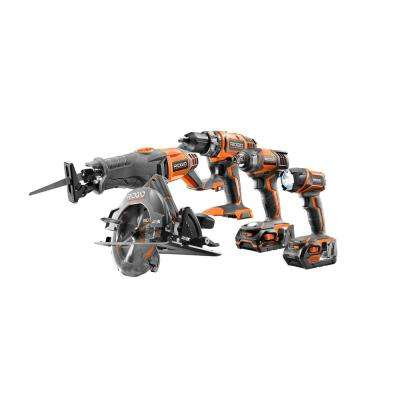 18-Volt Cordless Lithium-ion 5-Tool Combo Kit w/Drill, Impact Driver, Circular Saw, Reciprocating Saw, Light