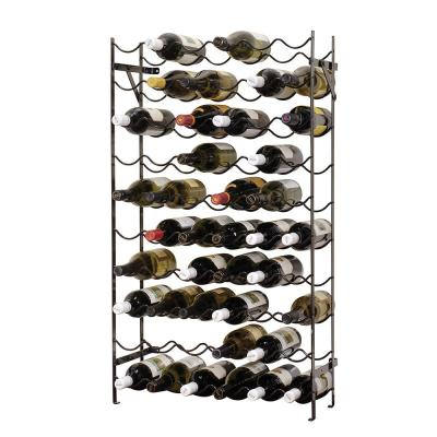 Alexander 60-Bottle Black Cellar Rack, Black