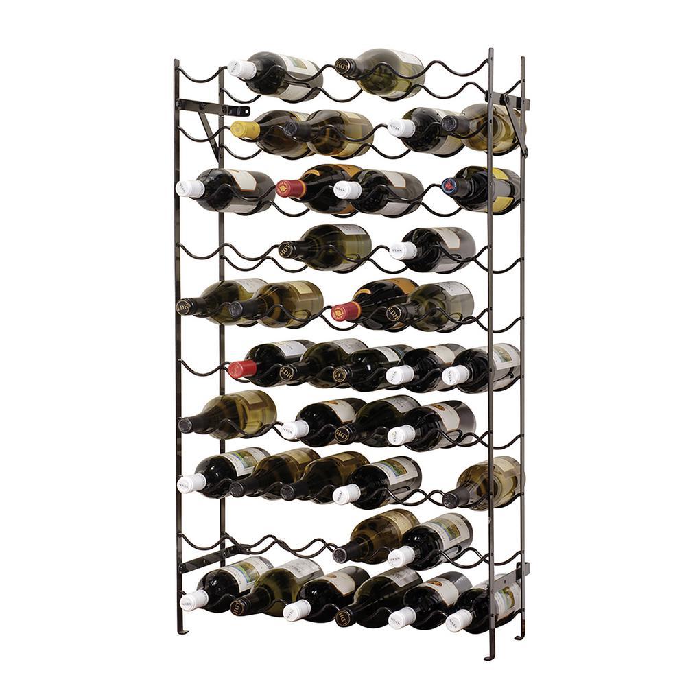 Alexander 60-Bottle Black Cellar Rack, Black