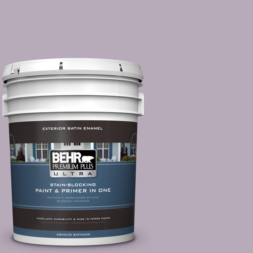 Behr Premium Plus Ultra 5 Gal Mq5 36 Audition Satin Enamel Exterior Paint And Primer In One