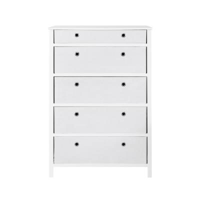 EZ Home Solutions 5-Drawer White Foldable Tall Dresser