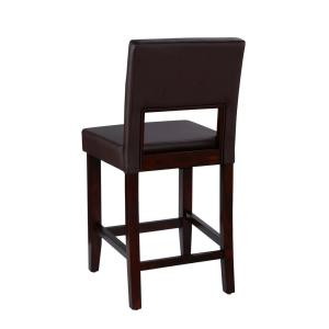 Astounding Linon Home Decor Vega 24 In Dark Brown Cushioned Bar Stool Unemploymentrelief Wooden Chair Designs For Living Room Unemploymentrelieforg