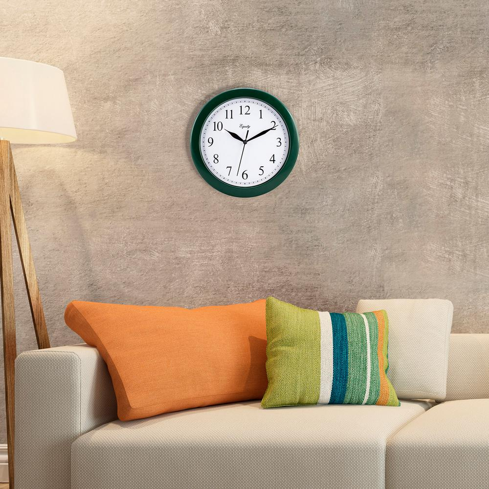 10 in. Hunter Green Quartz Wall Clock