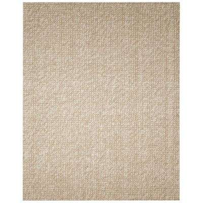 Zatar Beige and Tan 4 ft. x 6 ft. Wool and Jute Area Rug