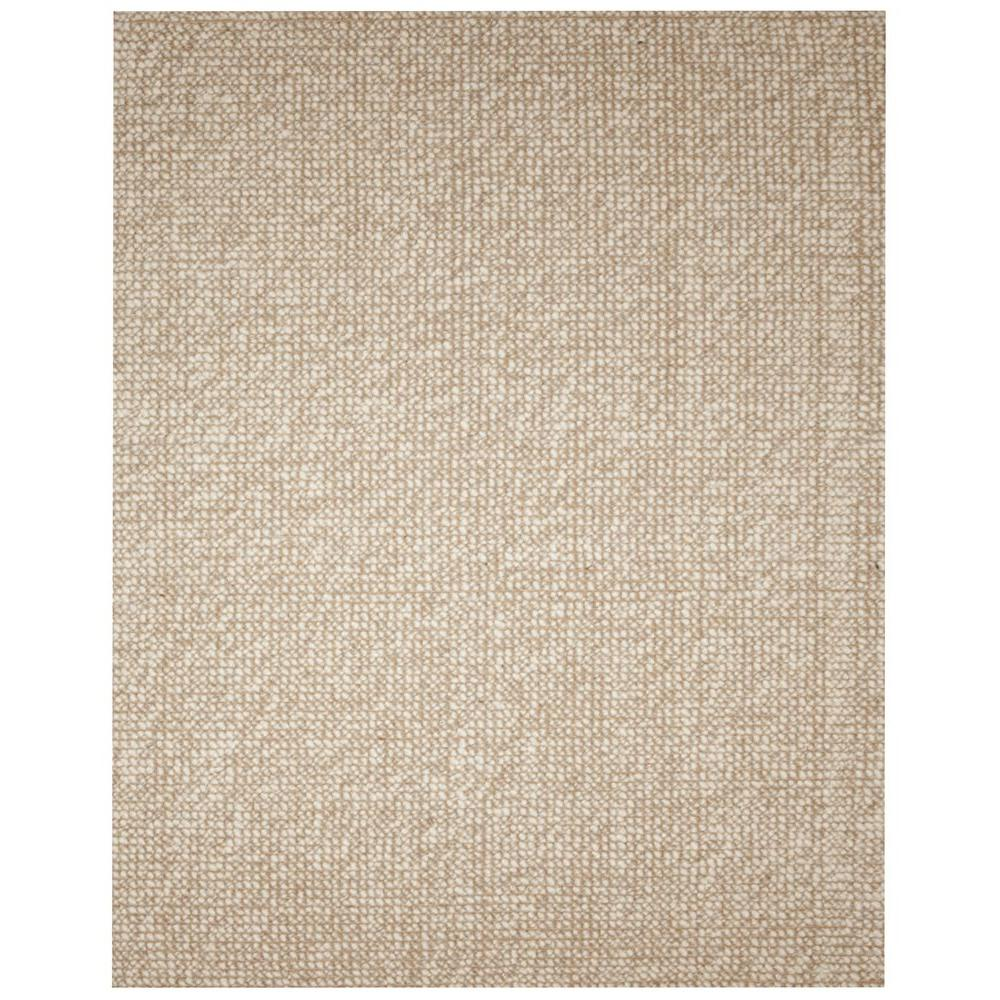 Anji Mountain Zatar Beige And Tan 8 Ft X 10 Ft Wool And