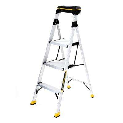 4.5 ft. Aluminum Hybrid Ladder with Tray with 250 lb. Load Capacity Type I Duty Rating