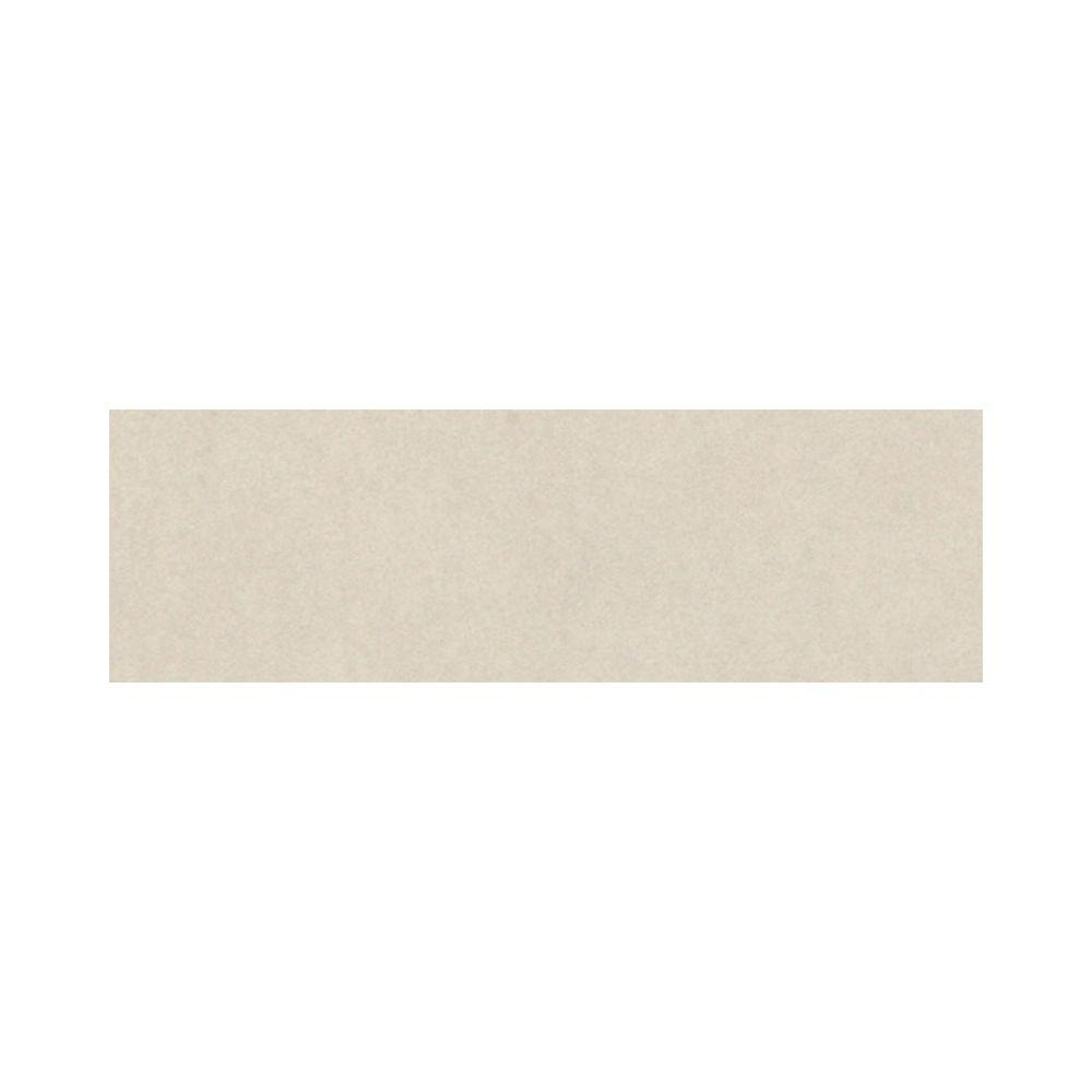 Daltile Plaza Nova White Image 3 in. x 12 in. Porcelain Bullnose Floor and Wall Tile-DISCONTINUED