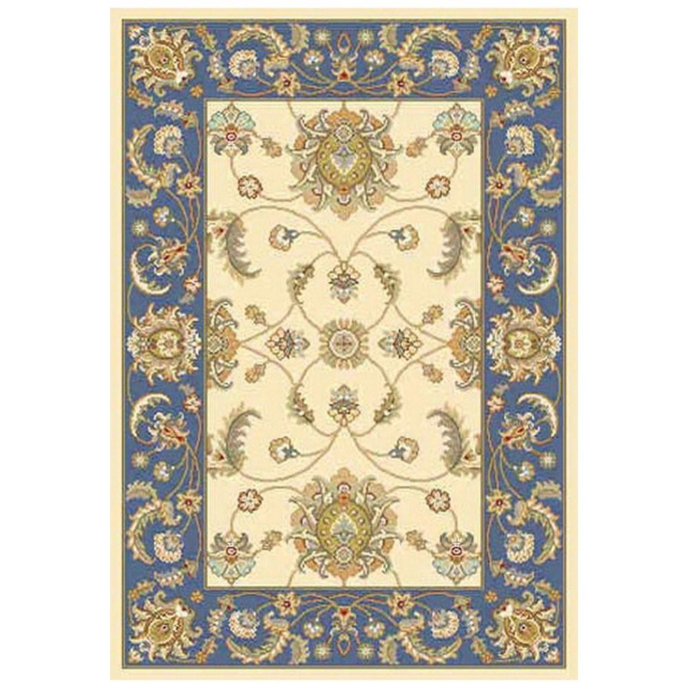 Home decorators collection versailles blue 2 ft 7 in x 4 for Home decorators rugs blue