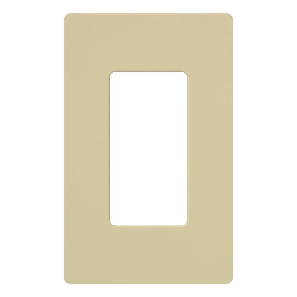 Claro 1 Gang Decorator Wallplate, Ivory