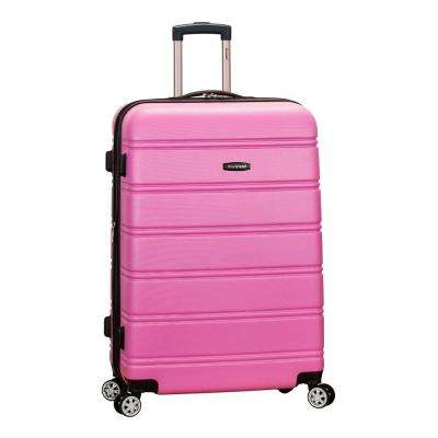 Melbourne 28 in. Pink Expandable Hardside Dual Wheel Spinner Luggage