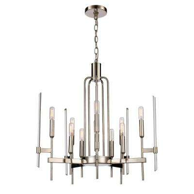 10-Light Polished Nickel Chandelier