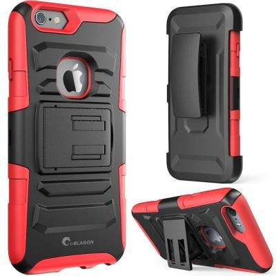 Prime Series 4.7 in. Holster Case for Apple iPhone 6/6S, Red