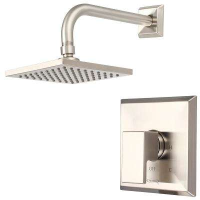 Mod 1-Handle Shower Trim Kit in Brushed Nickel (Valve Not Included)