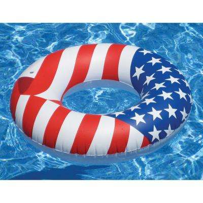 36 in. Stars And Stripes Americana Print Ring Pool Float