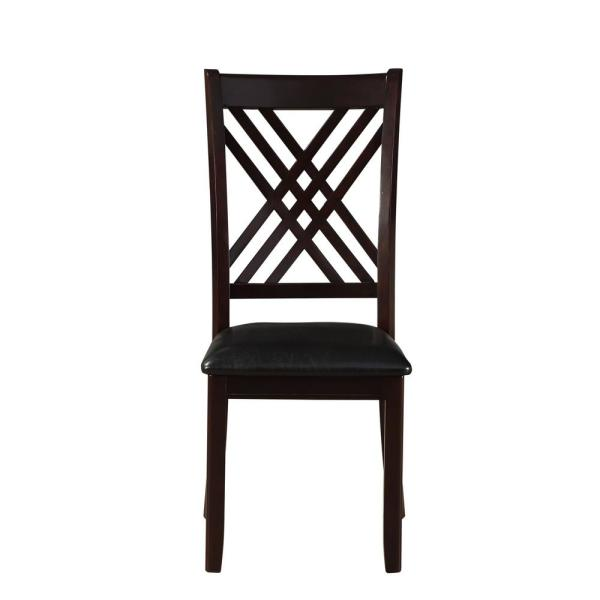 Acme Furniture Katrien Black PU and Espresso Side Chair (Set of