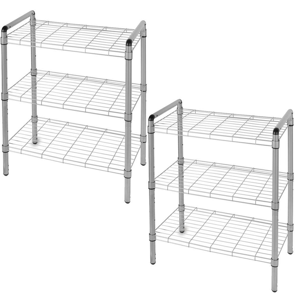 The Art of Storage 23 in. 3-Tier Quick Rack Adjustable Wire Shelving ...