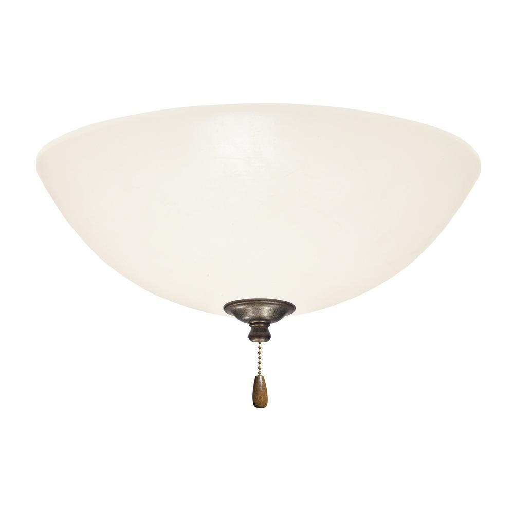 Emerson Opal Matte LED Array Vintage Steel Ceiling Fan Light Kit