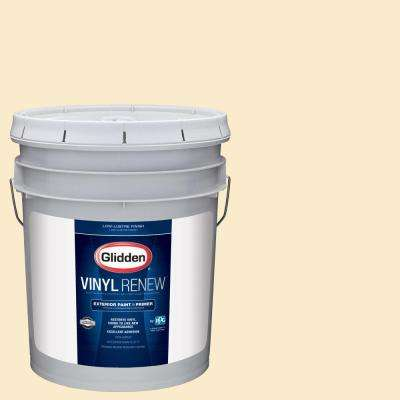 5 gal. #HDGY06U Popcorn White Low-Lustre Exterior Paint with Primer
