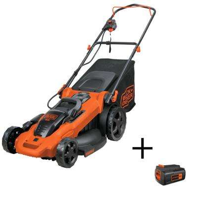 20 in. 40-Volt MAX Lithium-Ion Cordless Electric Walk Behind Push Mower w/ (3) 2.0Ah Batteries and  Charger