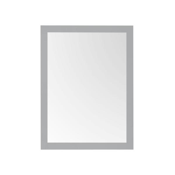 28.00 in. W x 36.00 in. H Framed Rectangular  Bathroom Vanity Mirror in American Gray