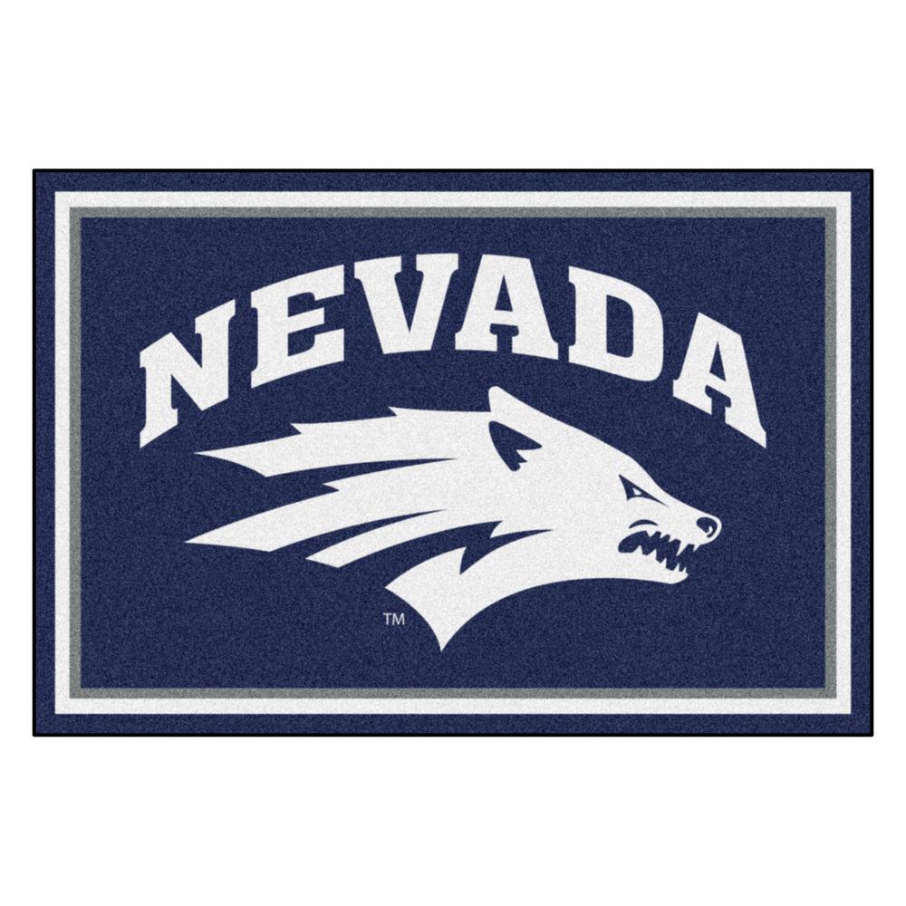 Fanmats Ncaa University Of Nevada Blue 8 Ft X 5 Ft