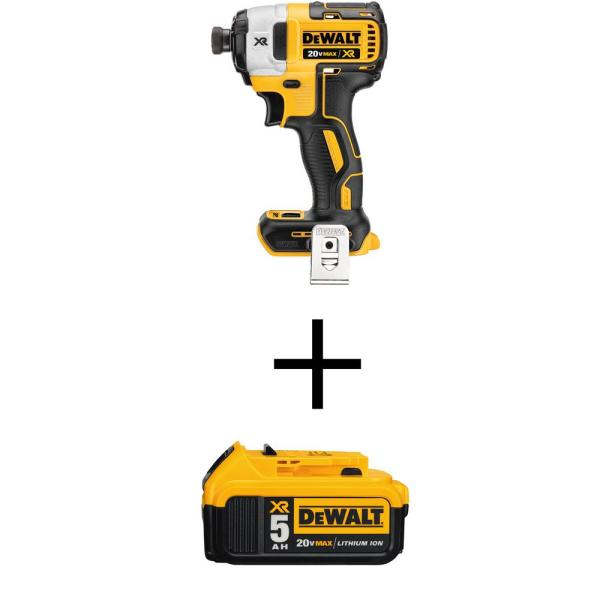 20-Volt MAX XR Li-Ion Cordless Brushless 3-Speed 1/4 in. Impact Driver (Tool-Only) with 20-Volt Li-Ion Battery 5.0Ah