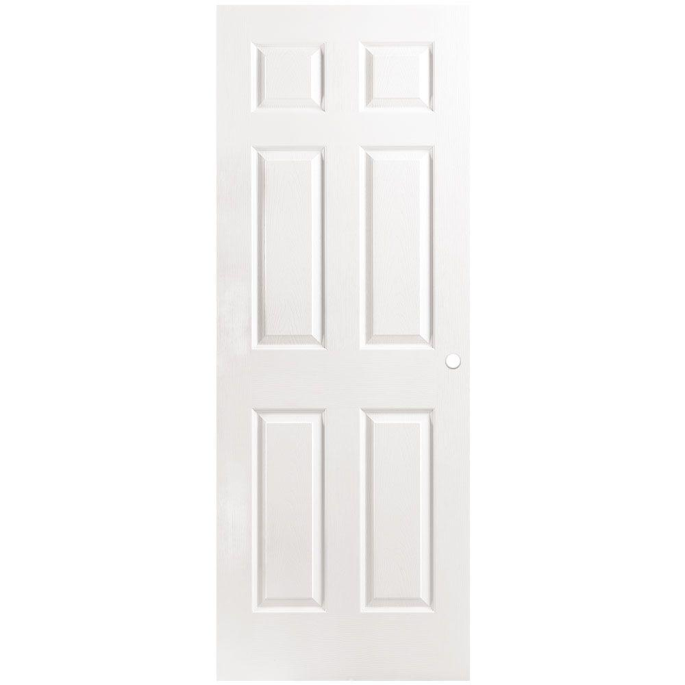 Masonite 30 In X 80 Textured 6 Panel Hollow Core Primed Composite